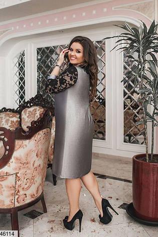Интересное нарядное стильное платье большие размеры: 48-50, 52-54,56-58, фото 2