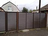 Розпашні ворота жалюзі з ламелей 4500х2000, фото 3