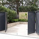 Розпашні ворота жалюзі з ламелей 4500х2000, фото 2