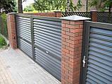 Розпашні ворота жалюзі з ламелей 4500х2000, фото 4
