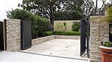Розпашні ворота жалюзі з ламелей 4500х2000, фото 5