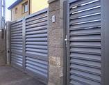 Розпашні ворота жалюзі з ламелей 4500х2000, фото 6