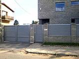 Розпашні ворота жалюзі з ламелей 4500х2000, фото 7