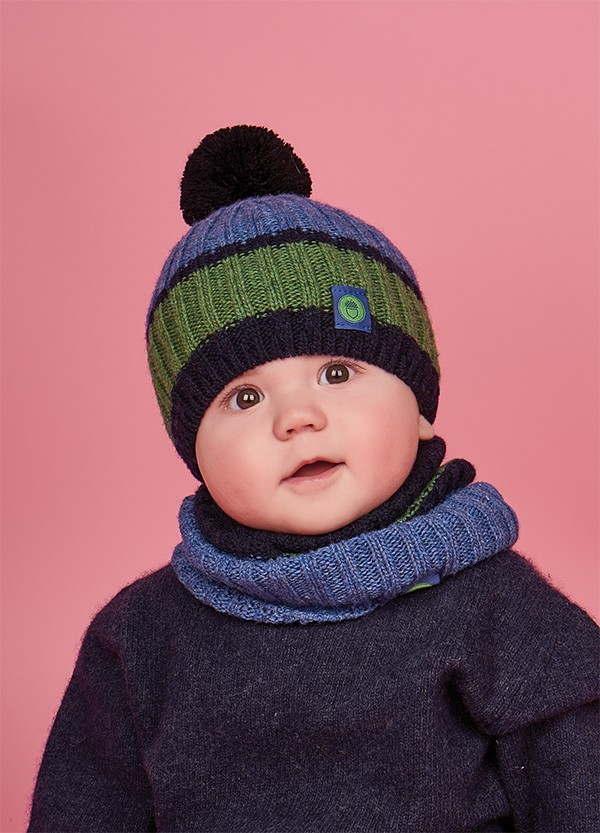 Детская зимняя шапка (набор) для малышей АШЕР оптом размер  one size(44-46)
