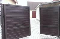 Распашные ворота 3000х2000 с заполнением сэндвич-панелями, фото 1