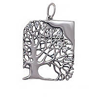 Серебряная подвеска (кулон) Дерево с камнями