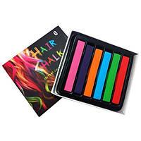 Цветные мелки для волос Hair Chalk, 6 шт
