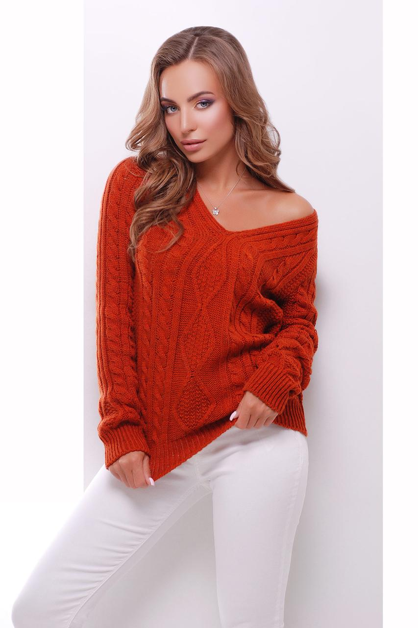 Женский вязаный свитер, в расцветках, размер 44-48