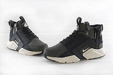 "Мужские кроссовки Nike Huarache X Acronym City MID Leather ""Haki/Black"", фото 3"
