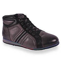 Мужские ботинки Futerini (зимние, кожаные, теплый, на меху, на шнурках, есть замок)
