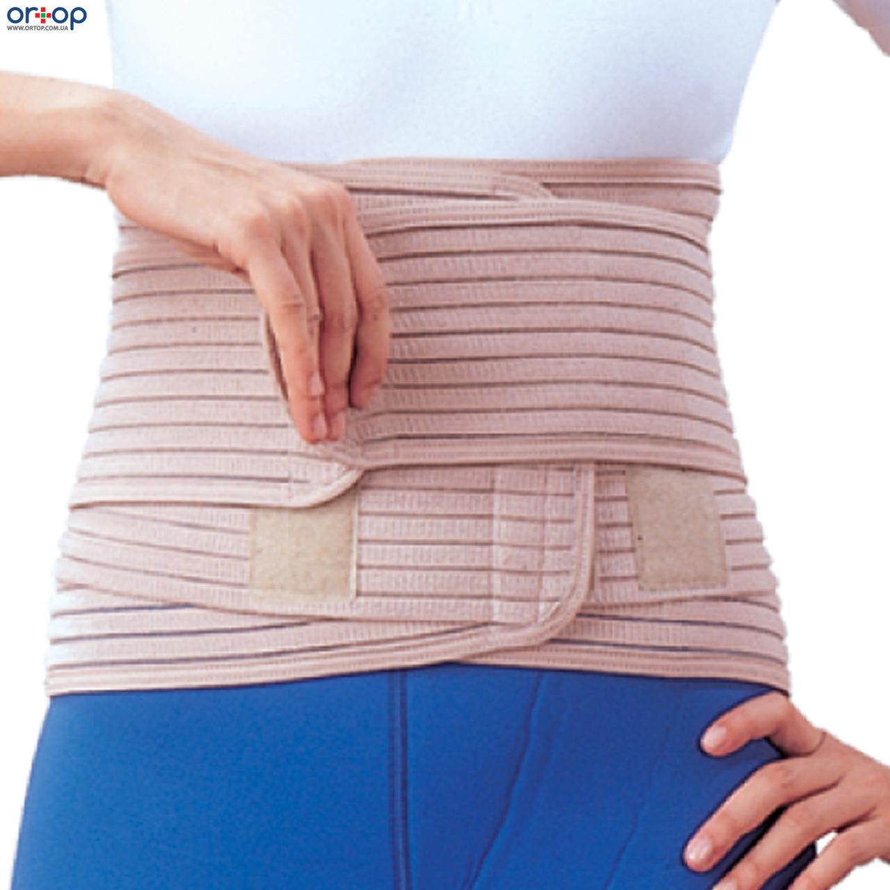Бандаж для спины согревающий с 6-ю ребрами жесткости EB-537, S/M