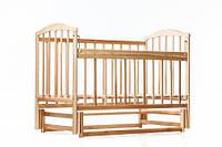 Детская кроватка маятник Чайка. Светлая, фото 1
