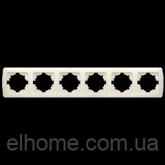 Рамка шестирна горизонтальна, Viko Carmen біла