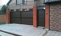 Распашные ворота Алютех 5000х2500 заполнение сэндвич-панелями, фото 1
