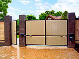 Розпашні ворота Алютех 5000х2500 заповнення сендвіч-панелями, фото 5