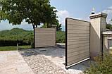 Розпашні ворота Алютех 5000х2500 заповнення сендвіч-панелями, фото 6