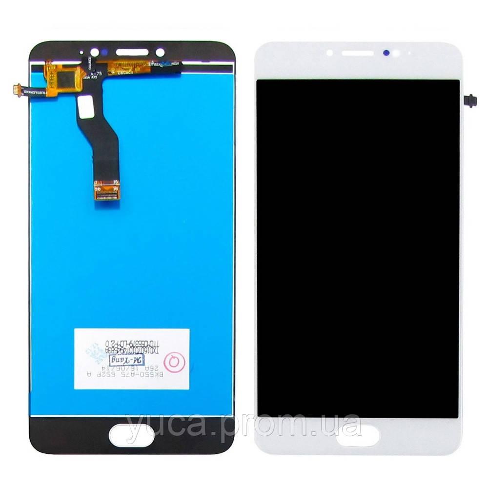 Дисплей для MEIZU M3 Note (model L681H) с белым тачскрином, мерцает при включении копия