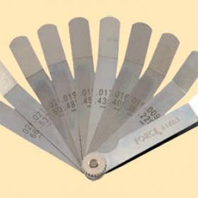 Набор щупов колиброванных, Г-образных 9 предметов (0,229-0,660 мм) FORCE 61803