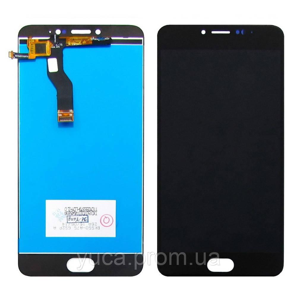 Дисплей для MEIZU M3 Note (model L681H) с чёрным тачскрином, мерцает при включении копия
