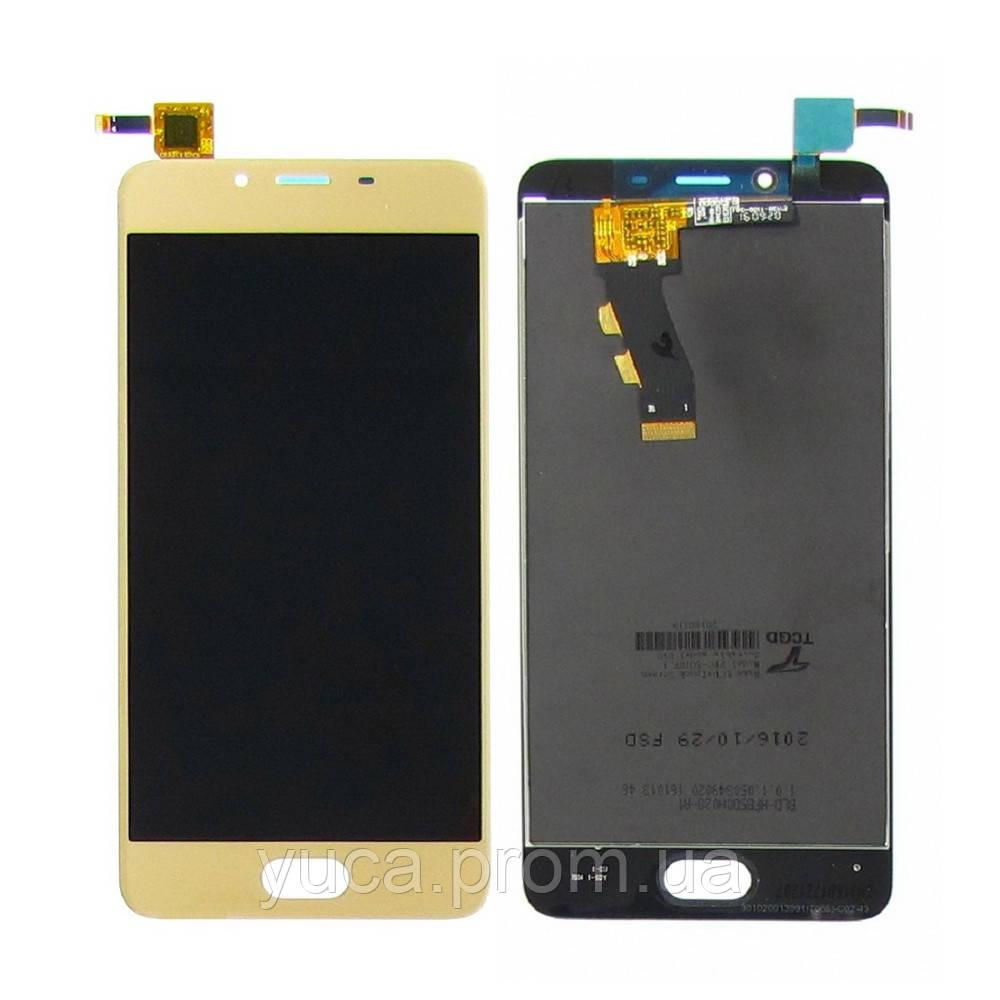 Дисплей для MEIZU U10 с золотистым тачскрином