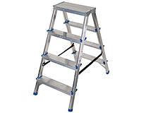 Двухсторонняя алюминиевая лестница Comfort 2x4 ступени