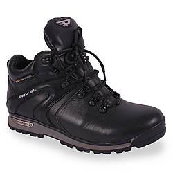 Мужские ботинки кожаные (зимние, теплые, на шнурках, на меху)