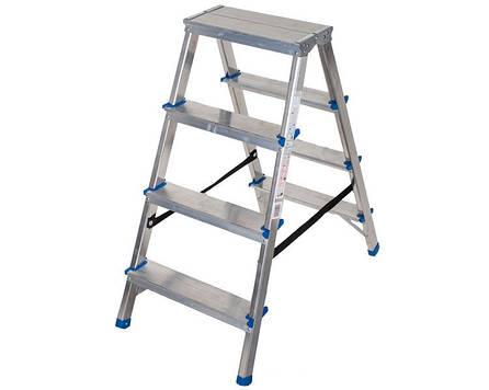 Двухсторонняя алюминиевая лестница Comfort 2x5 ступеней