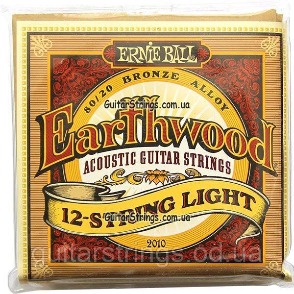 Струны Ernie Ball 2010 Earthwood Bronze Alloy 12-String Light 9-46
