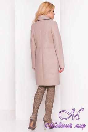 Женское демисезонное пальто бежевого цвета (р. S, M, L) арт. Мила 5391 - 36616, фото 2