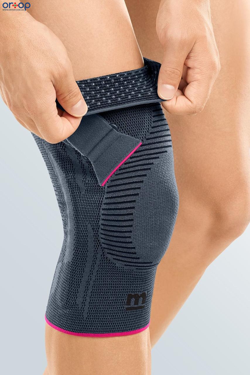 Функциональный коленный бандаж Genumedi PT - серый правый, 1