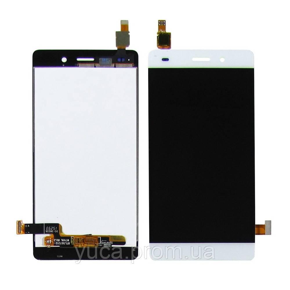 Дисплей для HUAWEI P8 Lite ( ALE L21) с белым тачскрином (2015)