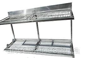 Полка-сушка 1200*325*510 мм. 2-х уровневая, пластиковый поддон