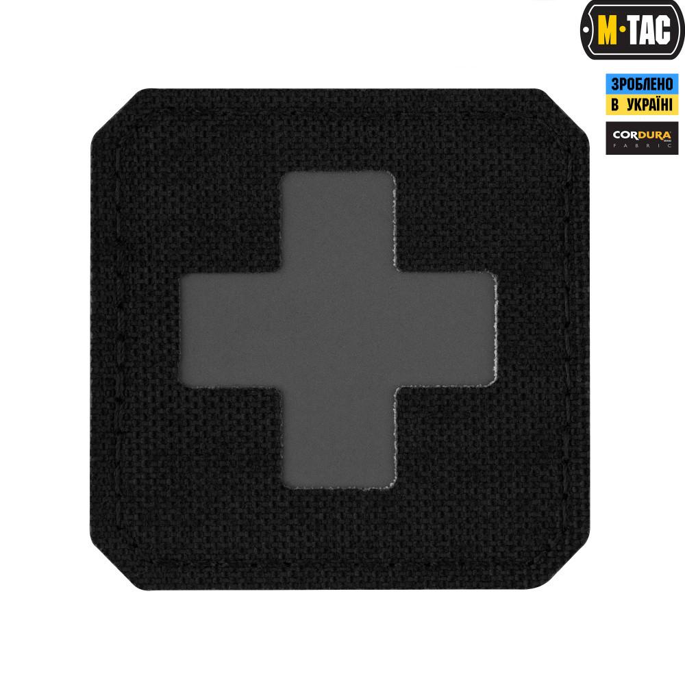 M-Tac нашивка Medic Cross Laser Cut Black/Grey