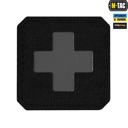 M-Tac нашивка Medic Cross Laser Cut Black/Grey, фото 2