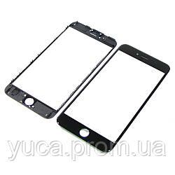 Стекло тачскрина для APPLE iPhone 6s чёрное с рамкой оригинал (TW)