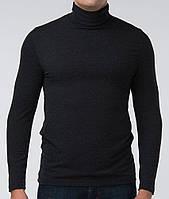 Чоловічий термогольф з вовною чорний