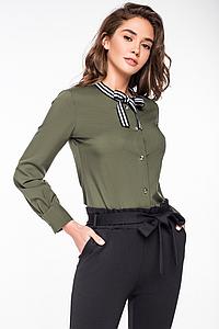 """Рубашка женская, блузка """"Юли хаки"""""""