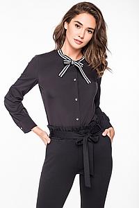 """Стильная черная женская рубашка """"Юли"""""""