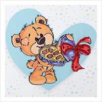 """Схема для вышивки бисером """"Влюбленный медвежонок"""""""