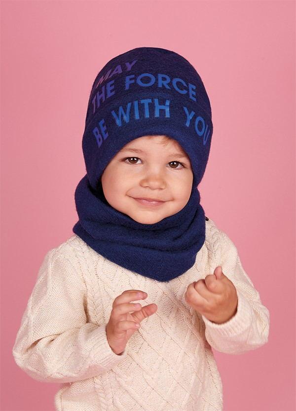 Детская зимняя шапка (набор) для мальчиков МИЧИ  оптом размер 48-50-52