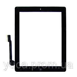 Тачскрин для APPLE iPad 3/4 чёрный с кнопкой Home