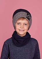 Зимняя шапка (набор) для мальчиков МАТЕ  оптом размер 50-52-54, фото 1