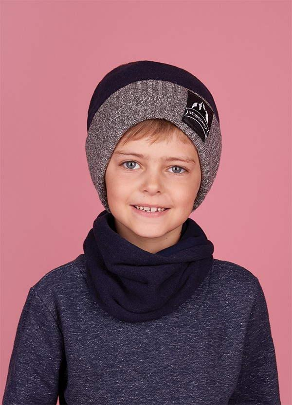 Зимняя шапка (набор) для мальчиков МАТЕ  оптом размер 50-52-54