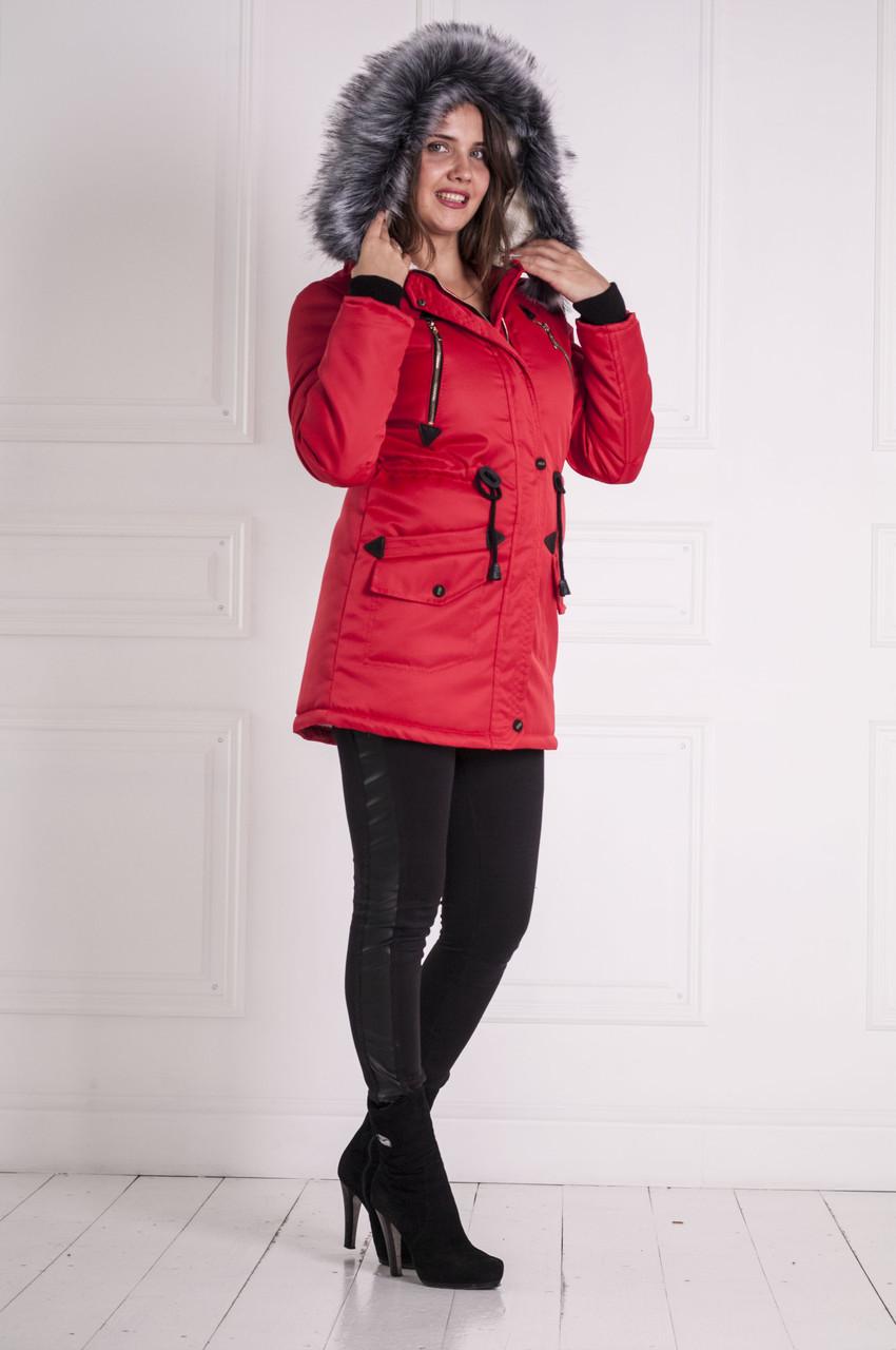 Женская парка курточка (зима) с мехом
