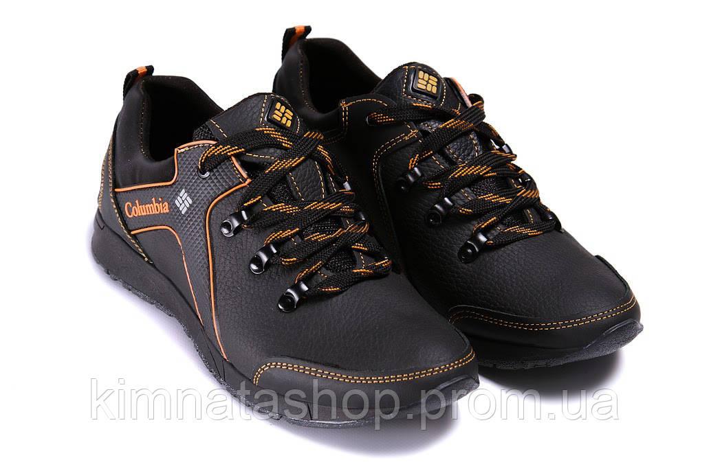 359e81f41ea686 Мужские кожаные кроссовки Columbia Stage 1 orange (реплика) - Kimnata Shop  в Киеве
