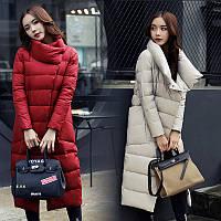 Пуховик  пальто женский. Классика, премиум качество. Новейшая  коллекция (0003 - НИКОЛЬ)