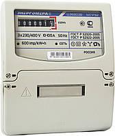 Трехфазный однотарифный электросчетчик ЦЭ 6804- U/1 220В 5-60А 3ф. 4пр. МР32 Энергомера