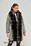 Зимнее женское пальто с натуральным мехом песца (разные цвета), фото 6