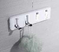 Вешалка с одкидными крючками Yacore Fab(ABS белый,нерж.сталь),9900-4 WC, фото 1