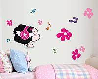 Інтер'єрна декоративна наліпка на стіну Меломан / Интерьерная наклейка на стену Маленький Меломан (AY7140)